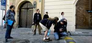 Setting up for and exterior shot