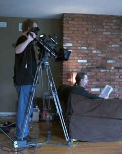 Getting a shot of the prop script over my shoulder