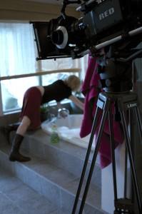Preparing the bathtub