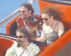fuego, my sweetie and me on the Giant Dipper