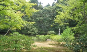 A small shrine in a Zen garden, Kyoto
