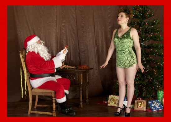 Pinup christmas card cover