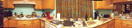 Our kitchen, filled with treats.