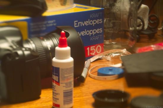 Tilt-lens photo with skewed focal plane