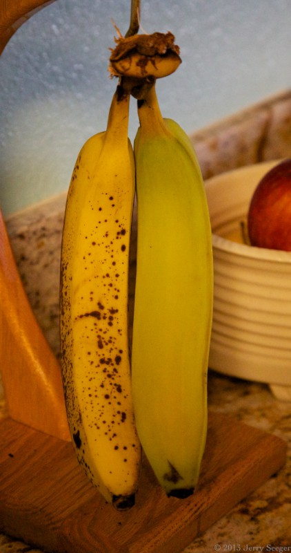 one ripe banana