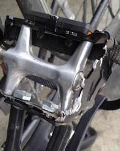 smashed pedal