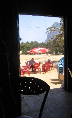 Gibraltar from our lunch table