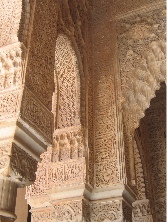Intricate stucco, alhambra