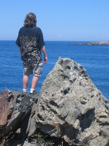 Me, looking out to sea