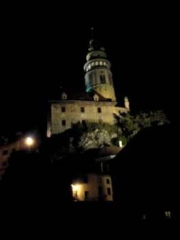 The castle tower in Český Krumlov