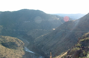 Salt river canyon, on hoghway 60