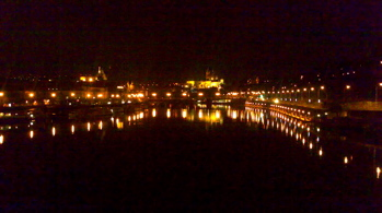 The vltava at night