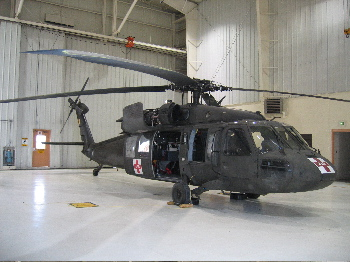 out latest prop - a blackhawk helicopter